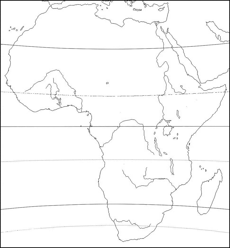 Afrika Slijepa Karta Karta