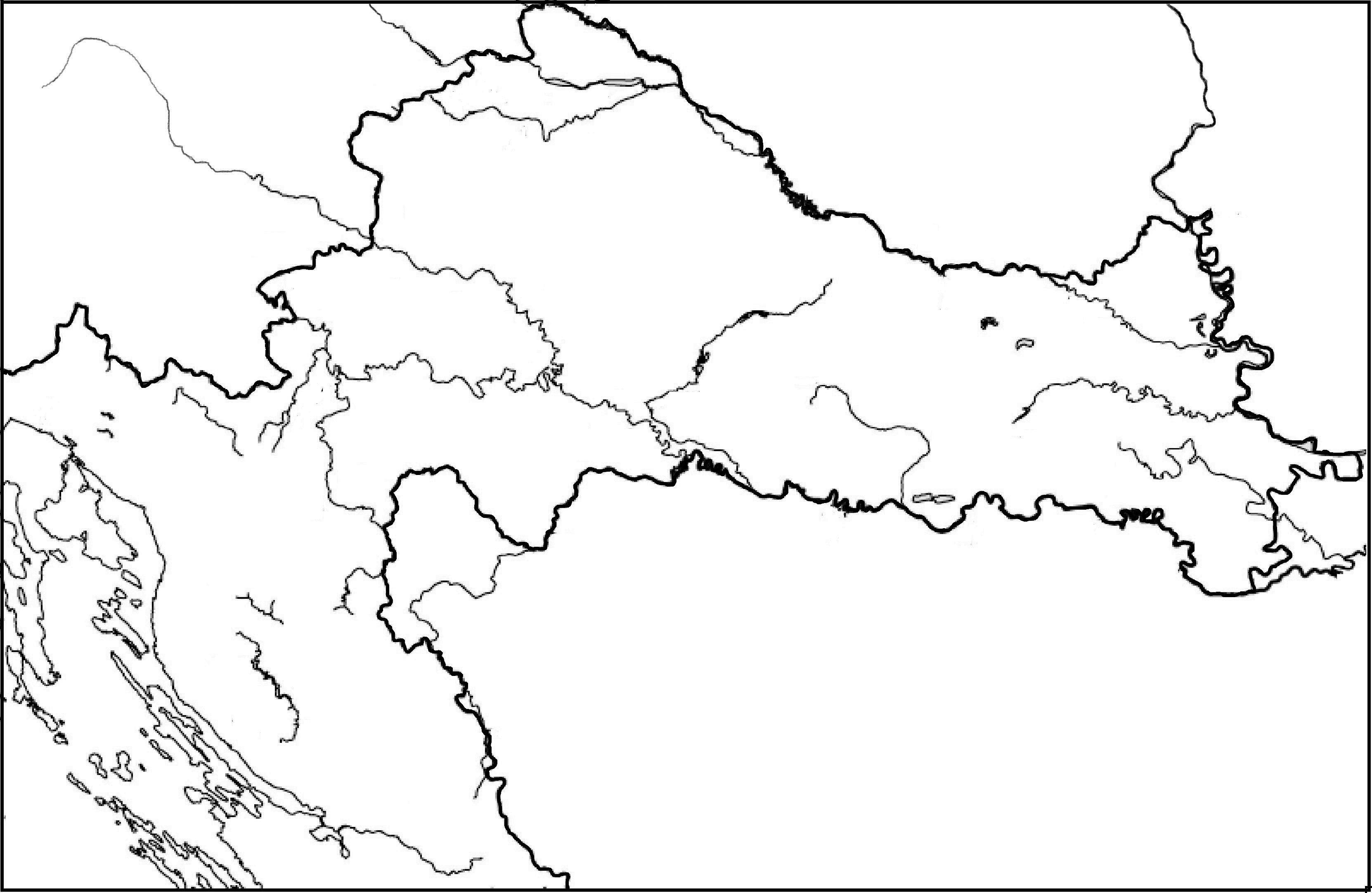 Karta Gorske Hrvatske Karta